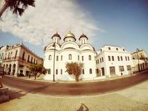 Église orthodoxe russe, vieille Havana Cuba Photographie stock