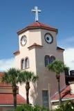 Église par la mer Photo stock