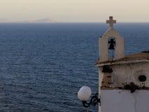 Église par la mer Photos stock