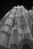 Église par la nuit (b/w) Photo stock
