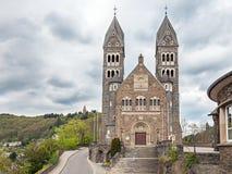 Église paroissiale dans Clervaux Image libre de droits