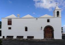 Église paroissiale de Parroquia San Roque, lanzerote Image libre de droits