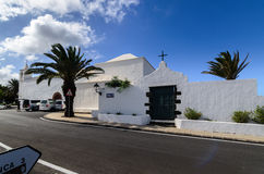 Église paroissiale de Parroquia San Roque, lanzerote Photographie stock