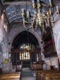Église paroissiale de St Mary's dans Alderley bas Cheshire image libre de droits