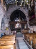 Église paroissiale de St Mary's dans Alderley bas Cheshire photos libres de droits