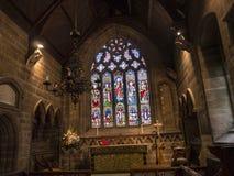 Église paroissiale de St Mary's dans Alderley bas Cheshire photo stock