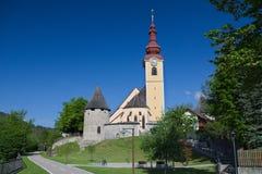 Église paroissiale de St Peter et de Paul dans Tarvisio Photos libres de droits