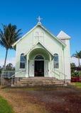 Église peinte historique en Hawaï Photos libres de droits