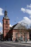 Église protestante Ruesselsheim de ville Image stock