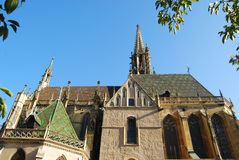 Église romane dans Thann, France Photo stock
