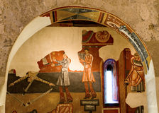 Église romane Sant Joan de Boi, La Vall de Boi, Espagne Photo stock