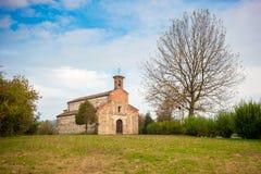 Église Romanic de saint Secondo dans Cortazzone, Italie Images stock
