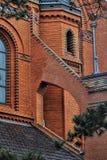 Église rouge dans Postorna Photographie stock libre de droits