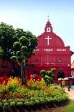 Église rouge du Christ de maison au Malacca Photographie stock