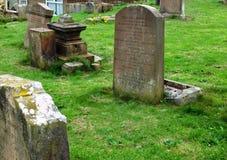 Église ruinée et cimetière antique, Ayrshire du sud, Ecosse image stock