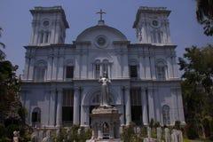 Église sacrée de coeur de Chandannagar dans Kolkata images libres de droits