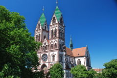 Église sacrée de coeur de Jésus, Freiburg dans Breisgau Images stock