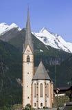 Église Saint Vincent, Heiligenblut de pèlerinage Photos stock