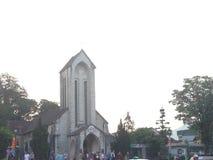Église sainte de chapelet, Sapa, Vietnam image libre de droits