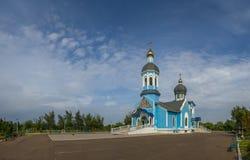 Église sainte de Vvedensky dans la ville de Yuzhny, Ukraine photographie stock