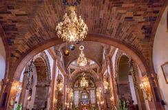 Église San Miguel de Allende Mexico de Parroquia de Noël de basilique photos stock
