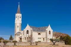 Église scénique de désert dans le Karoo Afrique du Sud Photos stock