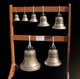 Église - sept cloches neuves Photographie stock