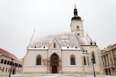 Église sous la neige image libre de droits