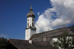 Église St Martin à Garmisch-Partenkirchen bavaria photos libres de droits
