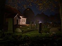 Église suédoise chez Halloween photographie stock