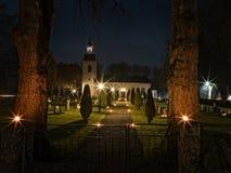 Église suédoise chez Halloween 5 images stock