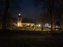 Église suédoise chez Halloween 3 photographie stock