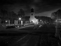 Église suédoise en noir et blanc images libres de droits