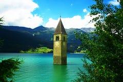 Église submergée Photographie stock