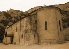 Église supérieure de monastère de Shiomgwime à pleine vue photographie stock