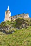 Église sur des alpes Image libre de droits