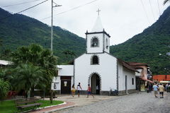 Église sur Ilha grand, Brésil Photo libre de droits