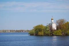 Église sur l'île photographie stock