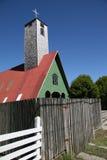 Église sur l'île de Chiloe Image libre de droits