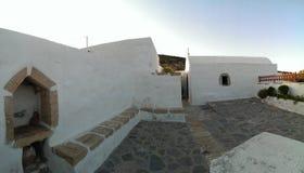 Église sur l'île de Levitha Photographie stock libre de droits