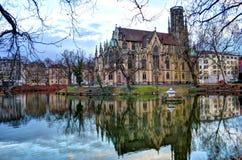Église sur l'eau photo stock