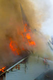 Église sur l'incendie Image libre de droits