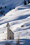 Église sur la neige Image libre de droits