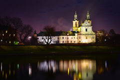 Église sur la roche à Cracovie, Pologne Photos stock