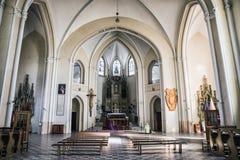 Église sur le hora de Marianska de colline - endroit de pèlerinage, Slovaquie image stock