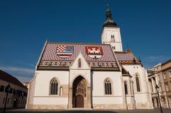 Église sur le marché Photos libres de droits