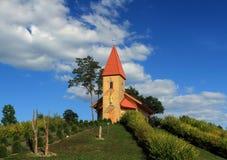Église sur le Roi Jesus de montagne Photographie stock