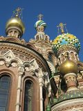 Église sur le sang renversé, St Petersburg Photo stock