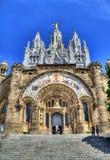 Église sur Tibidabo, Barcelone Image stock