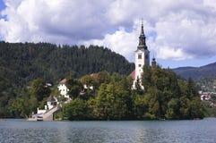 Église sur une île photo libre de droits